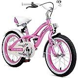 BIKESTAR Premium Sicherheits Kinderfahrrad 16 Zoll für Mädchen ab 4 - 5 Jahre ★ 16er Kinderrad...