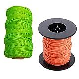 SaniMomo 2 Stck Scuba Diving Reel Line Polyester 83m / 289ft Orange + Gelb Fr Die Tiefsee