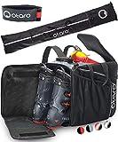 Otaro ® Premium Skischuhtasche mit Helmfach (PRO + Skitasche: Grau/Schwarz)