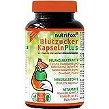 Nutrifox 120 Blutzucker Kapseln - Pflanzenextrakte, Vitamine & Mineralien (z.B. Kurkuma, Ingwer,...