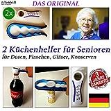 LifeShift Flaschenöffner für Senioren Plus Deckelöffner Dosenöffner Arthritis Arthrose 2xSET...