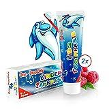 One Drop Only Kinderzahnpasta mit Himbeergeschmack für starke und gesunde Milchzähne, Set mit...