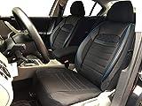 Sitzbezüge K-Maniac für VW Polo 9N | Universal schwarz-blau | Autositzbezüge Set Vordersitze |...