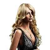 SONGMICS Percke Frauen Damen Haar Wigs lockig Lang Blond fr Karneval Fasching Cosplay Party Kostm...