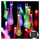 YYYY Solarschnur-Lichter mit Wasser-Tröpfchen, Außen 50 LED-Leuchten, Außen dekorative Leuchten,...