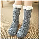 Fußwärmer, Fußwärmer für Frauen, Hausschuhe flauschige Socken, mit warmem Fußpflaster 20...