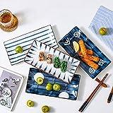 NYKK Snack-Dipschalen 4PACK Keramik Oval Haushalt Snack Plate Restaurant Vorspeise Teller Snack...