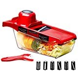 BXY Küche Gemüseschneiden, Artifact Multifunktionale Gemüseschneider Reibe mit Handschutz...