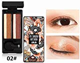 2-Farben-Augen-Make-up mit gemischtem Farbverlauf, unverzichtbare Augen-Make-up-Lidschatten-Palette...