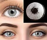 GLAMLENS Pisa Gray Grau + Behälter   Sehr stark deckende natürliche graue Kontaktlinsen farbig  ...