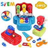 GILOBABY Baby und Kinder werkzeug set , Werkzeug mit realistischem Klang und Beleuchtung ,...