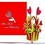 3D Muttertagskarte'Alles Liebe zum Muttertag'  tolle Geschenkidee: Grukarte als kleines Geschenk,...