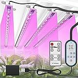 TENROOP Pflanzenlampe LED, 144 LEDs Pflanzenlicht Vollspektrum, 72W 4 Heads Pflanzenleuchte, LED...