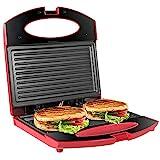 OZAVO Sandwichmaker, Sandwichtoaster Maker Panini Grill 750W, Panini-Maschine mit...