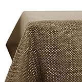 Deconovo Leinenoptik Tischdecke Wasserabweisend Tischwäsche Lotuseffekt Tischtuch 130x280 Taupe