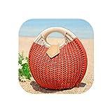 Bhmische Sommer-Handtasche, rund, Strohhalm, Strandtasche, Reisetasche, Einkaufstasche, Rattan,...