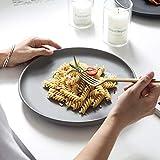 HVTKL Nordic kreative Keramik-Schale Western Steak Teller Pasta Teller Frühstückstablett Haushalt...