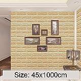 lixiang668 Originative 3D Bernstein Ziegelsteinziegelstein-Dekoration Tapete Aufkleber Schlafzimmer...