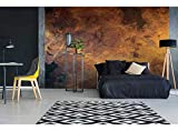 Vlies Fototapete VERKRATZTES KUPFER 375 x 250 cm | Vliestapete - Wandtapete für Wohnzimmer...