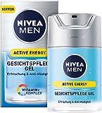 NIVEA MEN Active Energy Gesichtspflege Gel im 1er Pack (1 x 50 ml), belebende Gesichtscreme für...