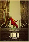 yiyiyaya Joaquin Phoenix Joker Movies Wandkunst Gemälde Druck auf Kaffee Retro Poster Bilder...
