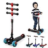 UNI-SUN Kinder Roller Scooter, Kinderscooter, Kinderroller, Kinderroller mit 3 LED-Rädern, geeignet...