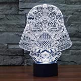 Cartoon Hollywood Science-Fiction-Film Star Raumschiff KNight Light Darth Charakter 3D Nachtlicht...