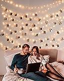 10M 100er Led Lichterkette mit 50 Stücke Klammern für Fotos, USB Lichterkette für Zimmer Deko...