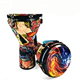 AMZH Afrikanische Trommel Durchmesser: 30cm Höhe: 60cm Stabiler Ton Die Trommelhaut ist zäh und...