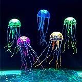 Fodlon 6 Stück Aquarium Dekoration Künstliche Quallen, Jellyfish Aquarium Dekoration Künstliche...