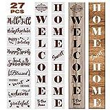 Outivity 27PCS Welcome Sign Schablonen Set Wiederverwendbare Saisonale Buchstaben Word Sign...