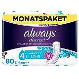 Always Discreet Inkontinenz-Einlagen+ Long Spar-Paket bei Blasenschwäche, 80 Einlagen (4 Packungen...