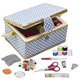 D & D Nähset-Korb für zu Hause, für Aufbewahrung und Organisation, tragbar, für Nadeln, Garn...