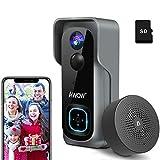 Video Türklingel mit Kamera, AWOW 1080P HD Video Doorbell mit 16GB Speicherkarte,...
