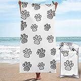 Wen-shop Hunde- oder Katzenpfoten Schnelltrocknendes Reisetuch Mikrofaser-Strandtuch Super Absorbent...