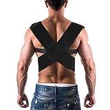 Yotown Rückenstütze Höhenverstellbar X Shape Corrector Schulterstütze Unisex Gürtel für...