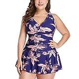 Allonly Damen Bikini-Set mit tiefem V-Ausschnitt, Größe S-XXXXXL - Mehrfarbig - Small