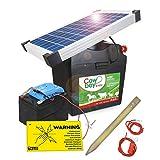 Koll Living Weidezaungerät Cowboy B7000 - mit 12V Akku & 10 Watt Solarmodul - nahezu wartungsfrei -...