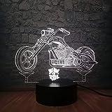Neuheit Cool Born To Ride Motorrad Junge Spielzeug 3D Led Nachtlicht Illusion Schreibtisch Tisch Rgb...