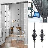 Kristallperlen String Quaste Vorhang – Trennwand Tür Vorhang Perlenvorhang Tür Paravent Home...