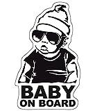 Baby on Board Aufkleber 12x7cm Auto Sticker -Finest Folia Autoaufkleber UV- Wetterfest Wasserfest...