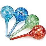 Kylewo 4PCS Bewässerungskugel Bewässerungs-Kugeln aus Glas,Selbstbewässerung, Große Glas Ball,...