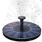WJY Solar Springbrunnen, 1,5W Solar Teichpumpe 200 L/h Solar Panel Wasserpumpe für Verschiedene...