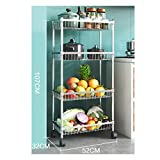 AKANG Kchenregal, 304 Edelstahl Kchenregale Freistehende/Drahtkrbe Obst oder Produzieren...