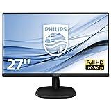 Philips 273V7QJAB/00 68 cm (27 Zoll) Monitor (VGA, HDMI, 5ms Reaktionszeit, DisplayPort, 1920 x...