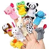 Acekid Baby Fingerpuppen, 10 stcke Kinder Plsch Tier Handpuppen Set, Samt Geschichte Zeit Requisiten...