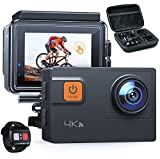 Action Cam A87, UHD 4K 60fps Touchscreen WiFi Unterwasserkamera 20MP 40M Wasserdichte Skihelmkamera...
