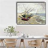 sanzangtang Berühmte Maler Fischerboot Leinwand Gemälde und Drucke Nordic Wohnzimmer Wandbild...