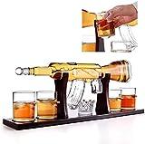 M16-förmig Wein Karaffe, 1000 ml Glas Karaffe einstellen mit 4 Aufzählungszeichen Whiskey Brille +...