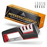 AMYRO ® Messerschaerfer – Messerschleifer für die Küche mit schnittfestem Handschuh –...
